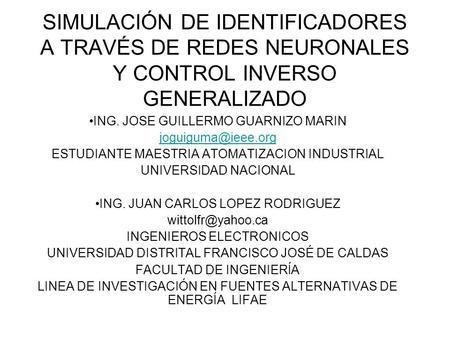 ING. JOSE GUILLERMO GUARNIZO MARIN