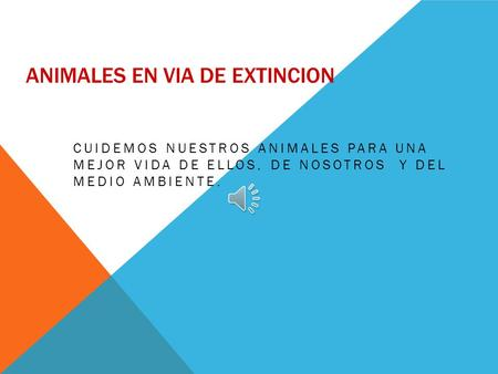 Animales en via de extincion