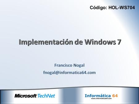 Implementación de Windows 7
