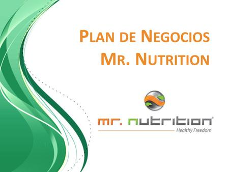Plan de Negocios Mr. Nutrition