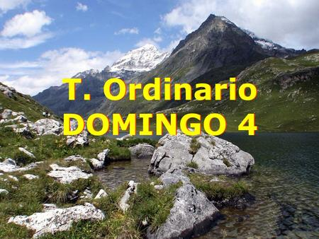 T. Ordinario DOMINGO 4.