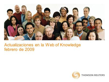 Actualizaciones en la Web of Knowledge febrero de 2009.