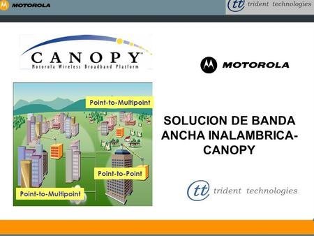 SOLUCION DE BANDA ANCHA INALAMBRICA- CANOPY Point-to-Multipoint Point-to-Point.