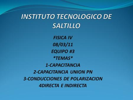 INSTITUTO TECNOLOGICO DE SALTILLO