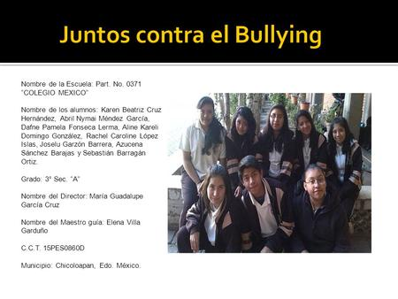 Juntos contra el Bullying