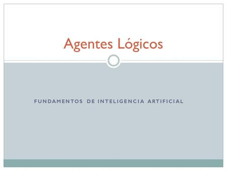 Fundamentos de Inteligencia Artificial