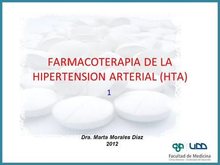 FARMACOTERAPIA DE LA HIPERTENSION ARTERIAL (HTA)