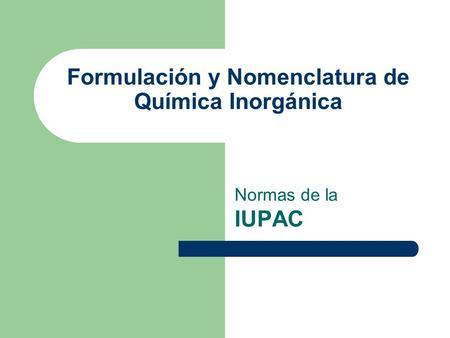 Inorganica quimica de nomenclatura pdf