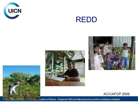 International Union for the Conservation of Nature - Regional Office for Mesoamerica and the Caribbean Initiative REDD ACICAFOP 2009.