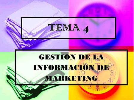 GESTION DE LA INFORMACIÓN DE MARKETING