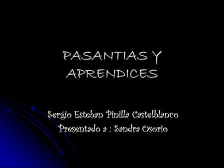 PASANTIAS Y APRENDICES