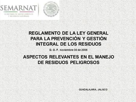 ley general para la prevencion y gestion integral de: