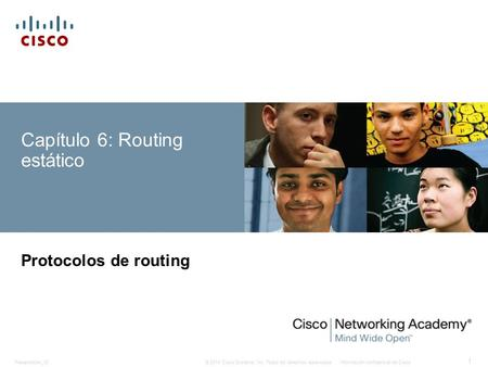 Capítulo 6: Routing estático