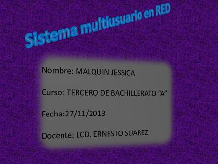 Sistema multiusuario en RED