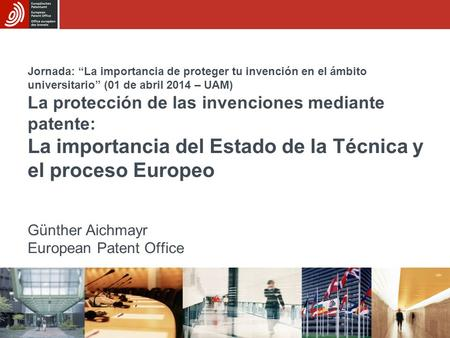 03 06 2016 la oficina europea de patentes introducci n al for Oficina europea de patentes