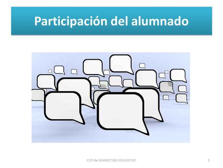 Participación del alumnado COP de MARKETING EDUCATIVO1.