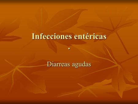 Diarrea aguda definicion
