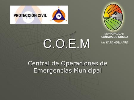 Central de Operaciones de Emergencias Municipal