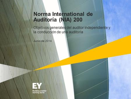 Norma International de Auditoría (NIA) 200