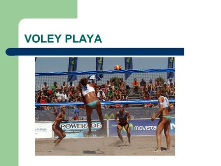 VOLEY PLAYA.
