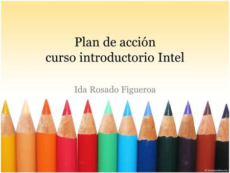 Plan de acción curso introductorio Intel Ida Rosado Figueroa.