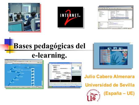 Bases pedagógicas del e-learning.