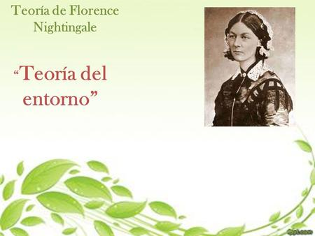 Teoría de Florence Nightingale