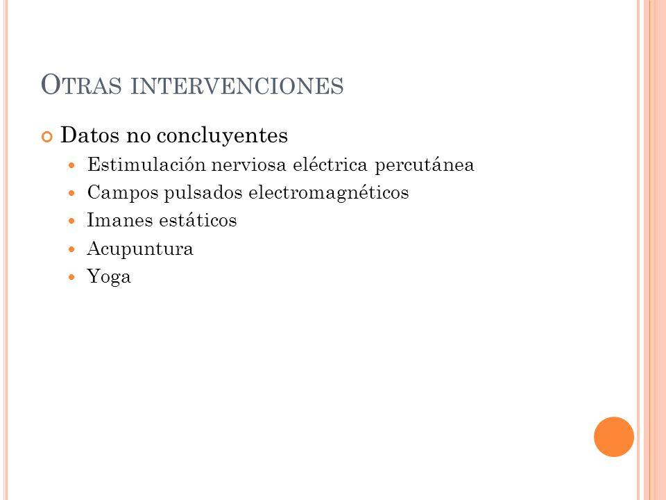 I NTERVENCIONES FARMACOLÓGICAS