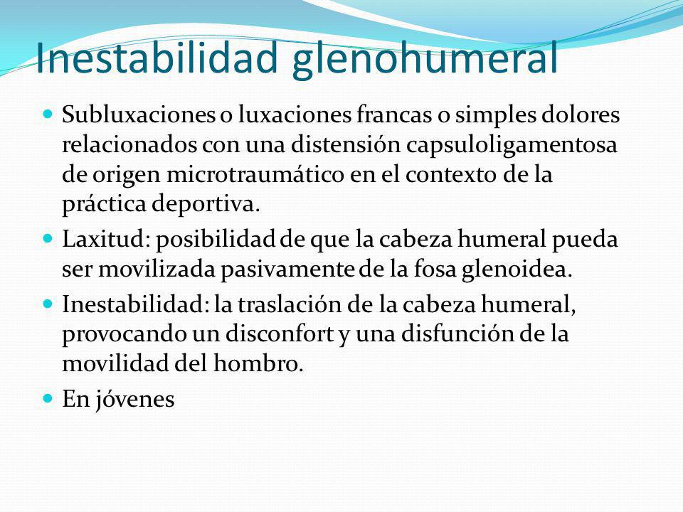 Bursitis subacromial Instauración aguda, sin trauma previo.