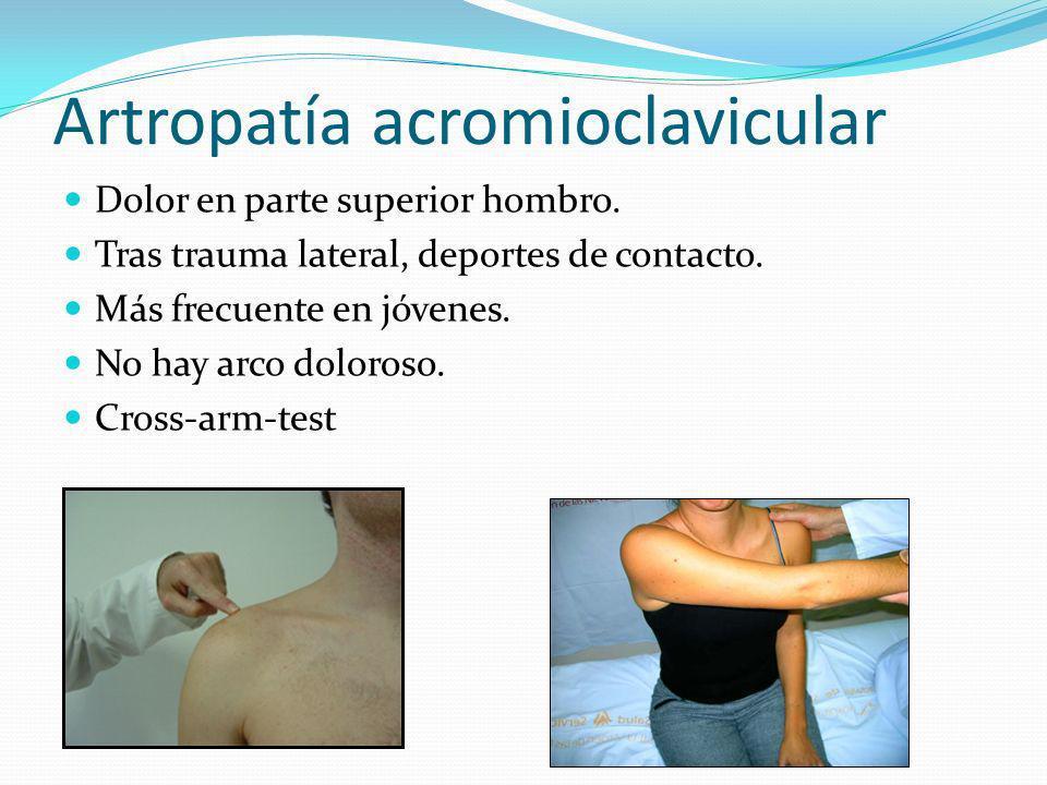 Artropatía esternoclavicular Artropatía degenerativa.