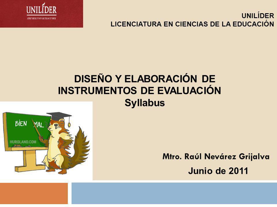 COMPETENCIAS: Declarativa-conceptual Domina los aspectos esenciales teórico-metodológicos para el diseño pertinente de planes integrales de evaluación de los aprendizajes de los estudiantes en la asignatura o materia elegida.