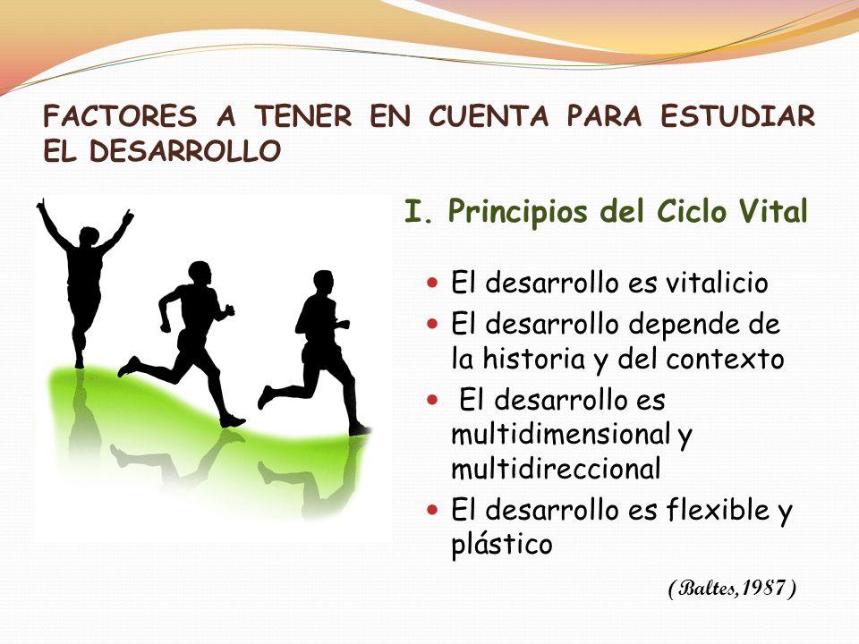 El proceso de desarrollo depende de ambos FACTORES A TENER EN CUENTA PARA ESTUDIAR EL DESARROLLO II.