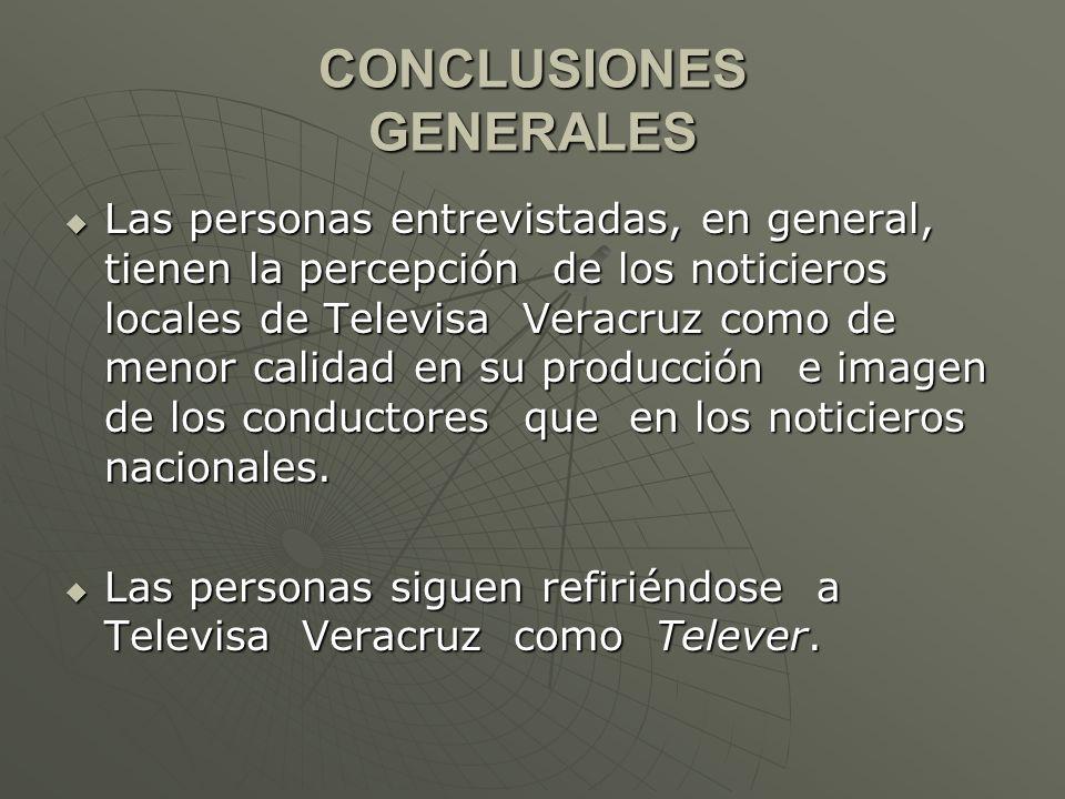 Los televidentes desean que la calidad de producción, imagen y conductores sea semejante a la de los noticieros de Televisa Nacional.