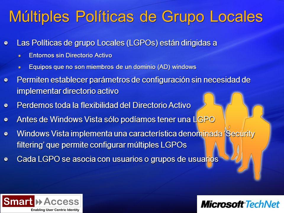 Integración de Group Policy Management Console GPMC forma parte de la distribución de Windows Vista
