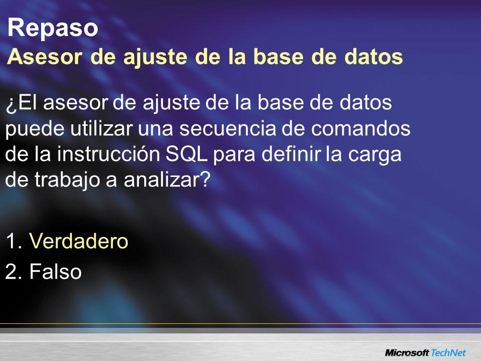 Consulta: ¿Qué tipos de recomendaciones puede generar la ajuste de la base de datos...