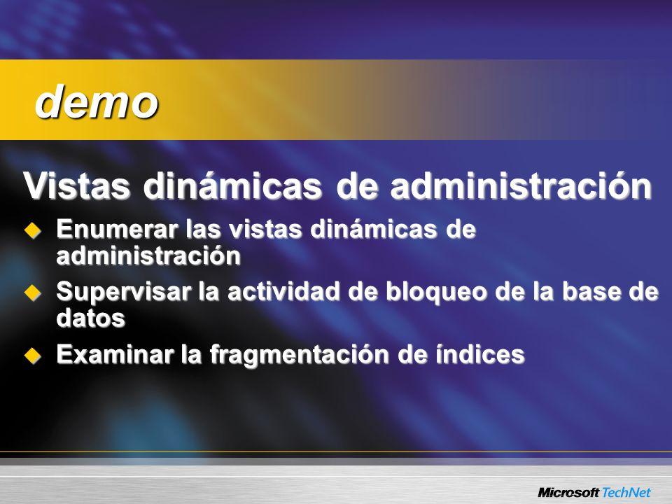 Consulta: ¿Qué esquema guarda las vistas dinámicas de administración.