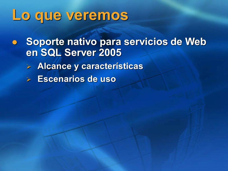 Prerrequisitos Familiaridad con los conceptos de servicios de Web con XML Familiaridad con los conceptos de servicios de Web con XML Familiaridad con HTTP Familiaridad con HTTP