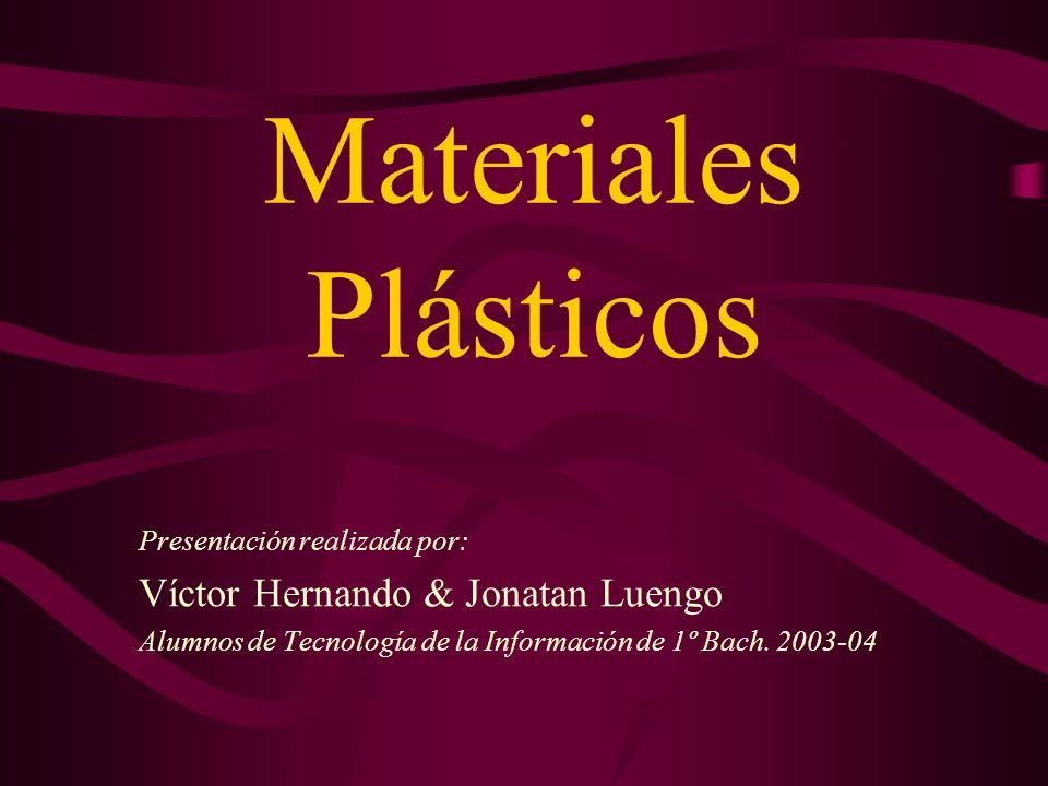 Definición de Plásticos Materiales formados por moléculas muy grandes llamadas polímeros, formadas por largas cadenas de átomos que contienen carbono Polímero = Macromolécula Aplicaciones múltiples en transporte, envases y embalajes, construcción,...