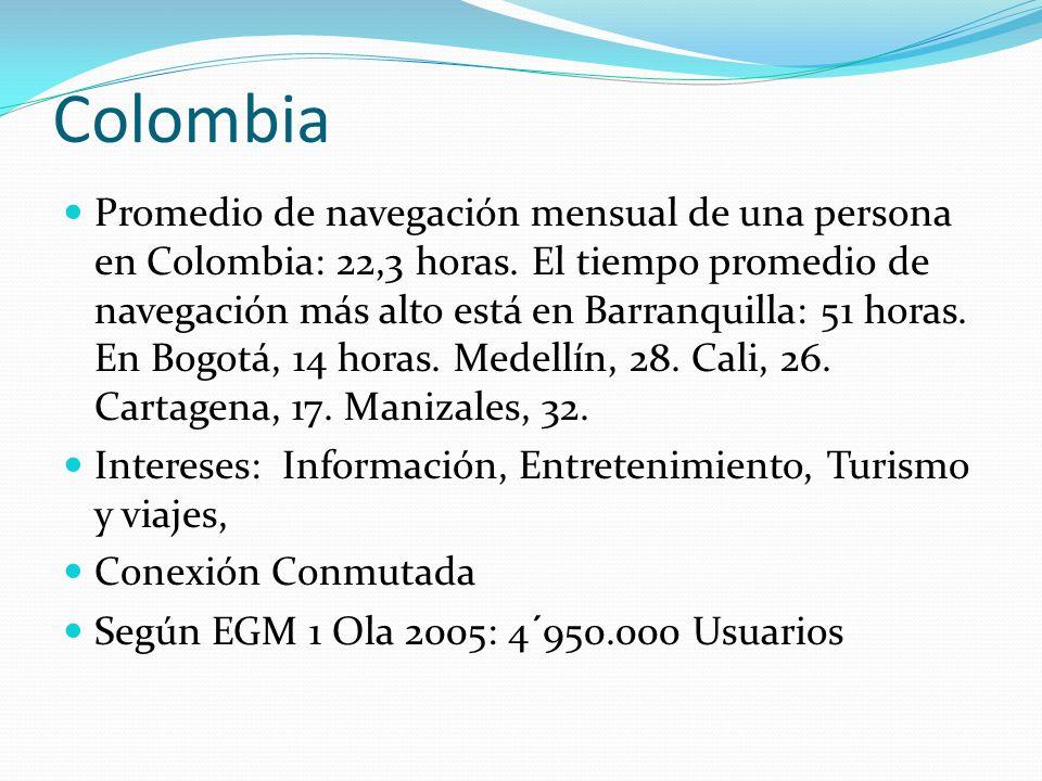 Importancia de Internet en Colombia 10 PC por cada 100 Habitantes Mas de 4,200´000 de Usuarios Internet.