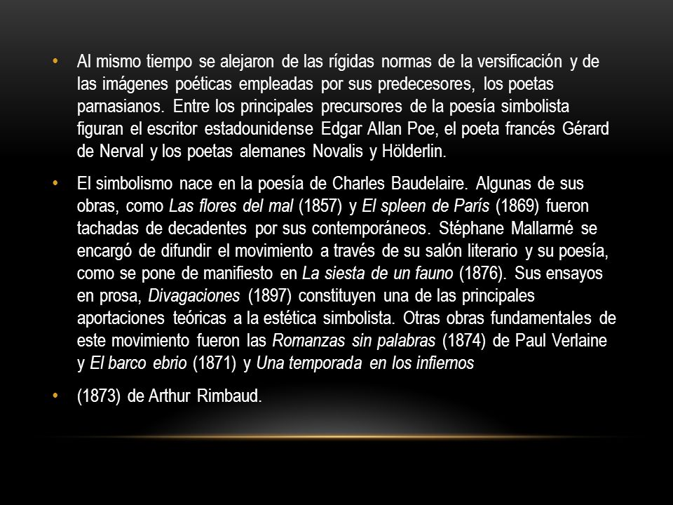 CHARLES BAUDELAIRE Charles Baudelaire (1821-1867), poeta y crítico francés, con el que se abre la vía a la poesía moderna.