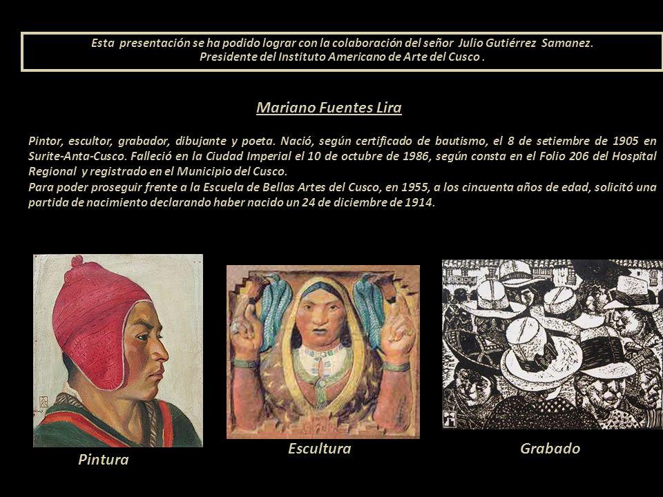Mariano Fuentes Lira Pintor, escultor, grabador, dibujante y poeta.