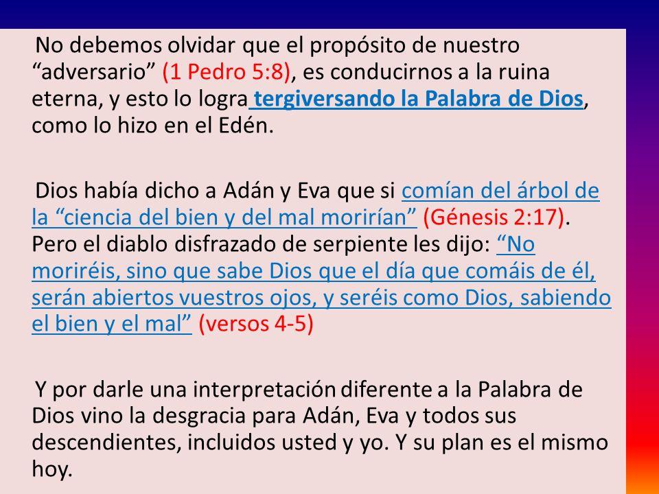 Textos que hablan de la inmutabilidad de Dios