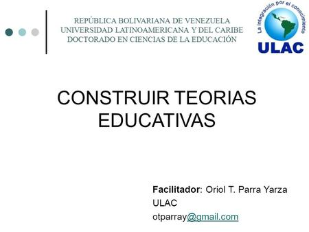 CONSTRUIR TEORIAS EDUCATIVAS
