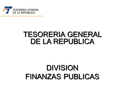 TESORERIA GENERAL DE LA REPUBLICA