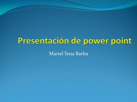 Presentación de power point