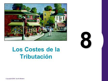 Copyright©2004 South-Western 8 Los Costes de la Tributación.