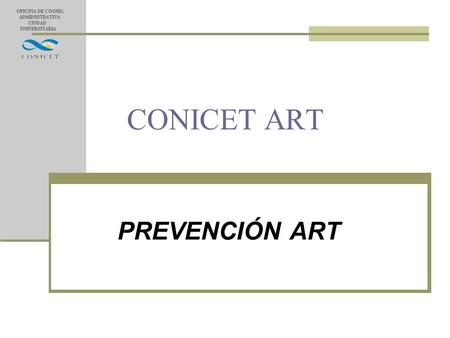 CONICET ART PREVENCIÓN ART.