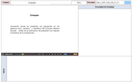 Description for Developer Audio SubjectLO File name Sinopsis Animación donde se presentan los ganadores en los géneros lírico, narrativo y dramático del.
