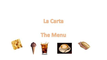 La Carta The Menu.