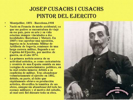 JOSEP CUSACHS I CUSACHS PINTOR DEL EJERCITO